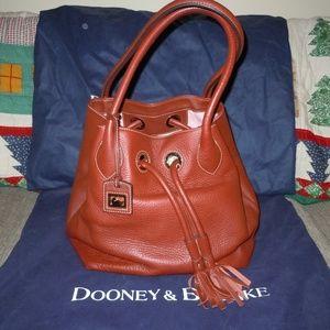 Dooney & Bourke Drawstring Pebble Leather Bag